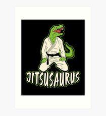 Jiu Jitsu Martial Art Dinosaur Fighter Gift Art Print