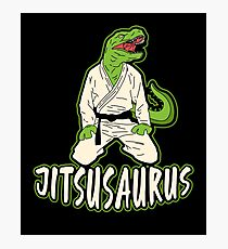 Jiu Jitsu Martial Art Dinosaur Fighter Gift Photographic Print