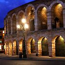 Night at the Arena in Verona by John Wallace
