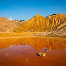Minas de Mazarron orange pool reflections 1 by Ralph Goldsmith