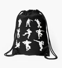 Dance Fortnite Black  Drawstring Bag