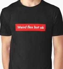 Funny Red Box Logo Parody - Weird Flex But Ok Meme - Hoodie ... Graphic T-Shirt