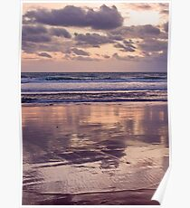 beach reflections... Poster