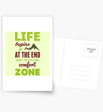 Life begins at the end of your comfort zone. Postcards
