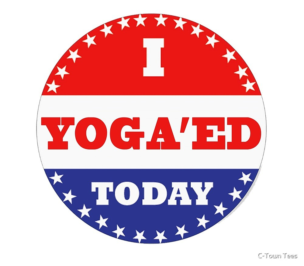 Voting Stickers - I Yoga'ed Today by Klay70