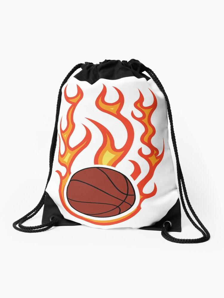 Pelota De Baloncesto En Llamas Mochila Saco