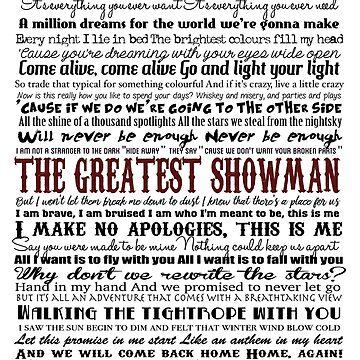 Showman typography (white background) by GreysGirl