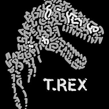 Dinosaur Skeleton - Tyrannosaurus Skull by Karotene