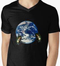 dungbeetle earth Men's V-Neck T-Shirt
