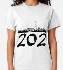 Washington D.C. - 202 (Black Logo) Classic T-Shirt