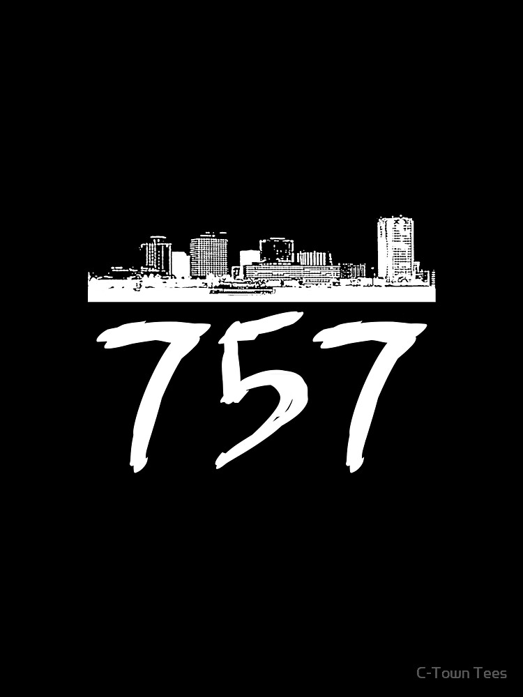Virginia Beach - 757 (White Logo) by Klay70