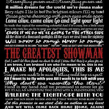 Showman Typography (black background) by GreysGirl
