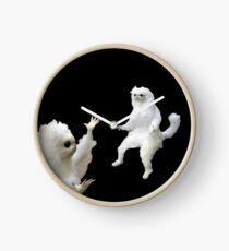 Reloj meme del gato persa