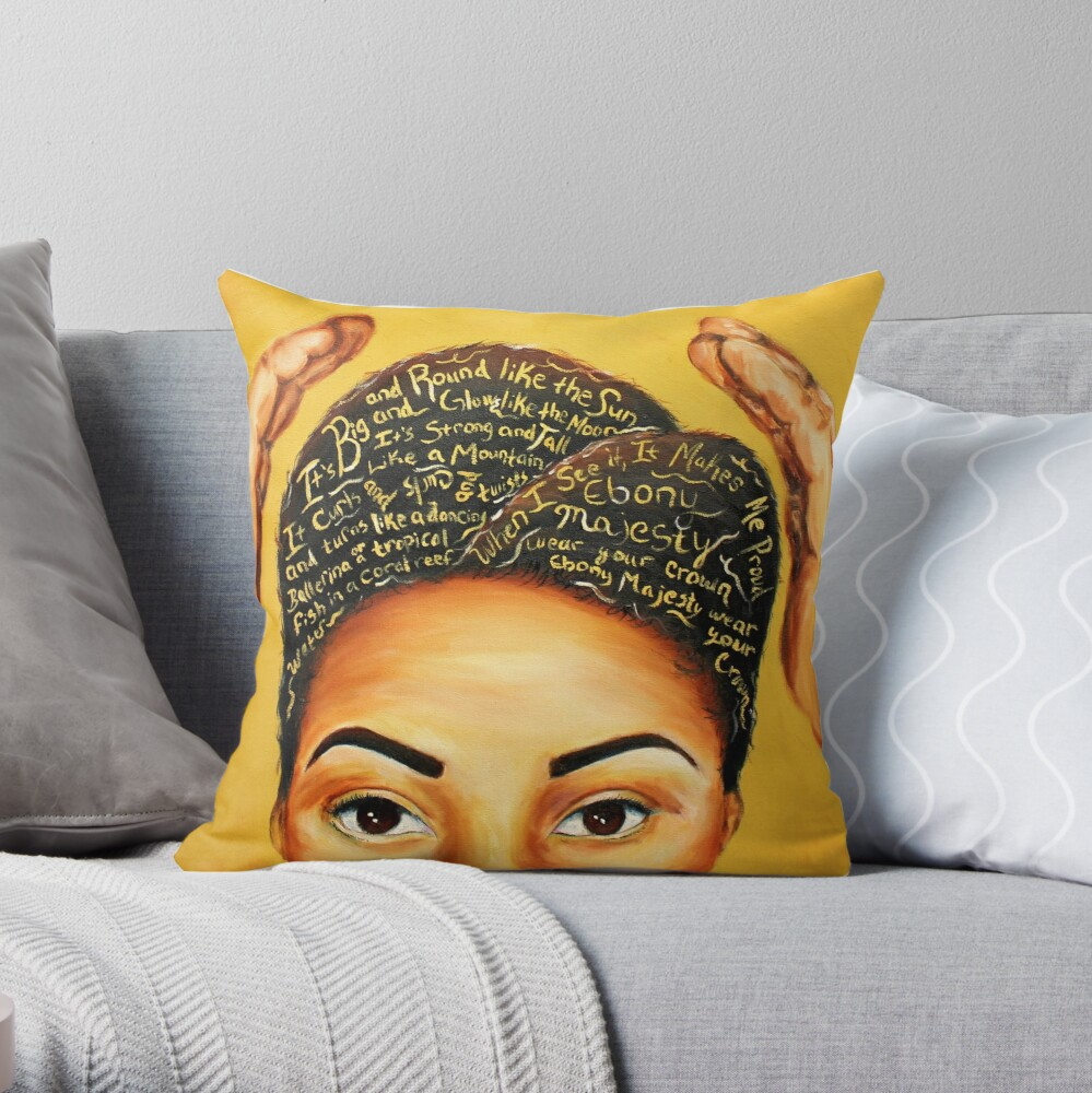 Ebony Majesty  Throw Pillow