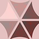 Circle parts distressed pale pink by Anteia