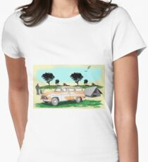 Combi Tourist Camping Women's Fitted T-Shirt
