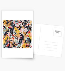 Tropical Birds Pattern II. Postcards