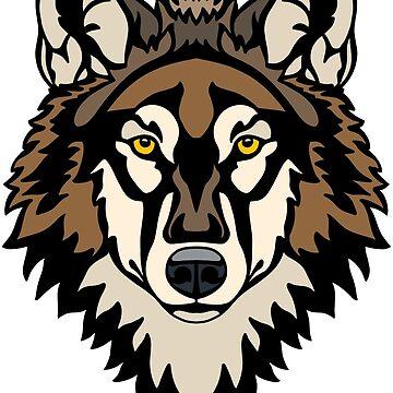 Lobo de madera de Hareguizer