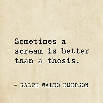 Sometimes a scream is better than a thesis. by Pagarelov