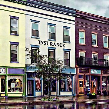 Owego NY - Rainy Evening on Front Street by SudaP0408