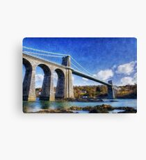 Menai Susupension Bridge Canvas Print