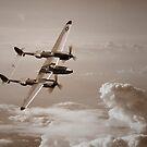 P-38 Lightning Mono by Airpower Art