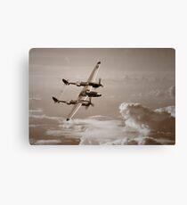 P-38 Lightning Mono Canvas Print