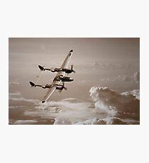 P-38 Lightning Mono Photographic Print