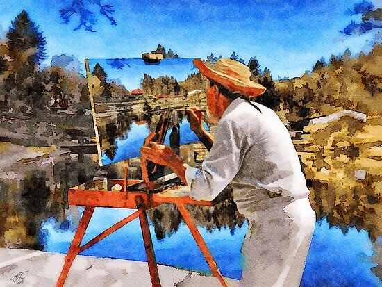 The Painter at the Forest Lake von Androdyn