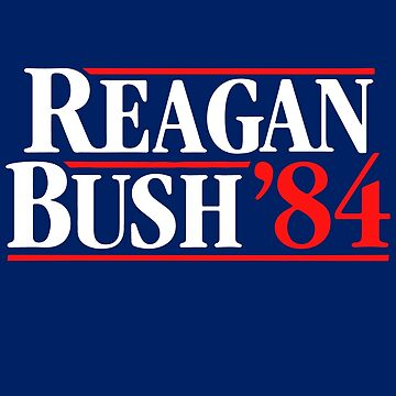 Vintage Reagan Bush 84 Shirt - 1984 Presidential Election Tee by niftee