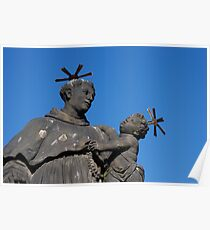 Statue of St. Anthony of Padua on Charles Bridge Poster