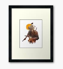 When the time comes, you gotta run and don't look back. Framed Print