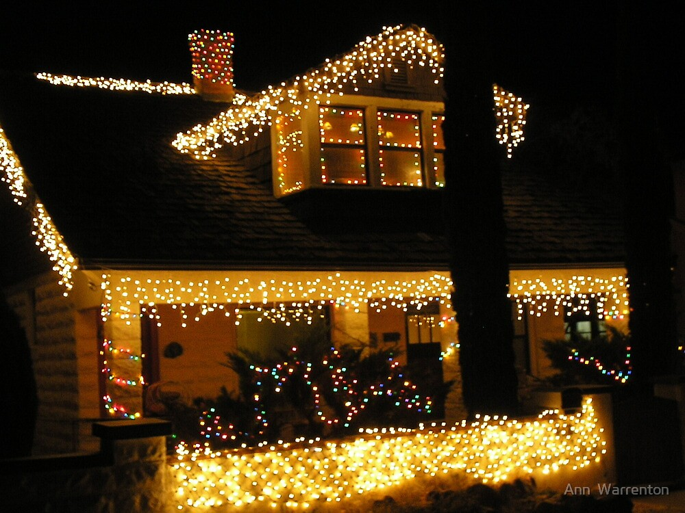 Decorated for the Holiday- The Historical town of Bisbee Az by Ann  Warrenton