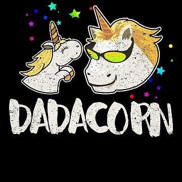 Dadacorn Unicorn Dad Father Daddy Baby Family Love by kieranight