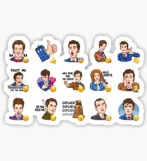 Doctor Who Emojis  Sticker