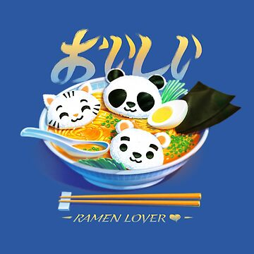 Ramen Panda Cat Bear by tobiasfonseca