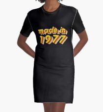 Made in 1977 (Yellow&Red) Graphic T-Shirt Dress