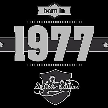 Born in 1977 (Light&Darkgrey) by ipiapacs