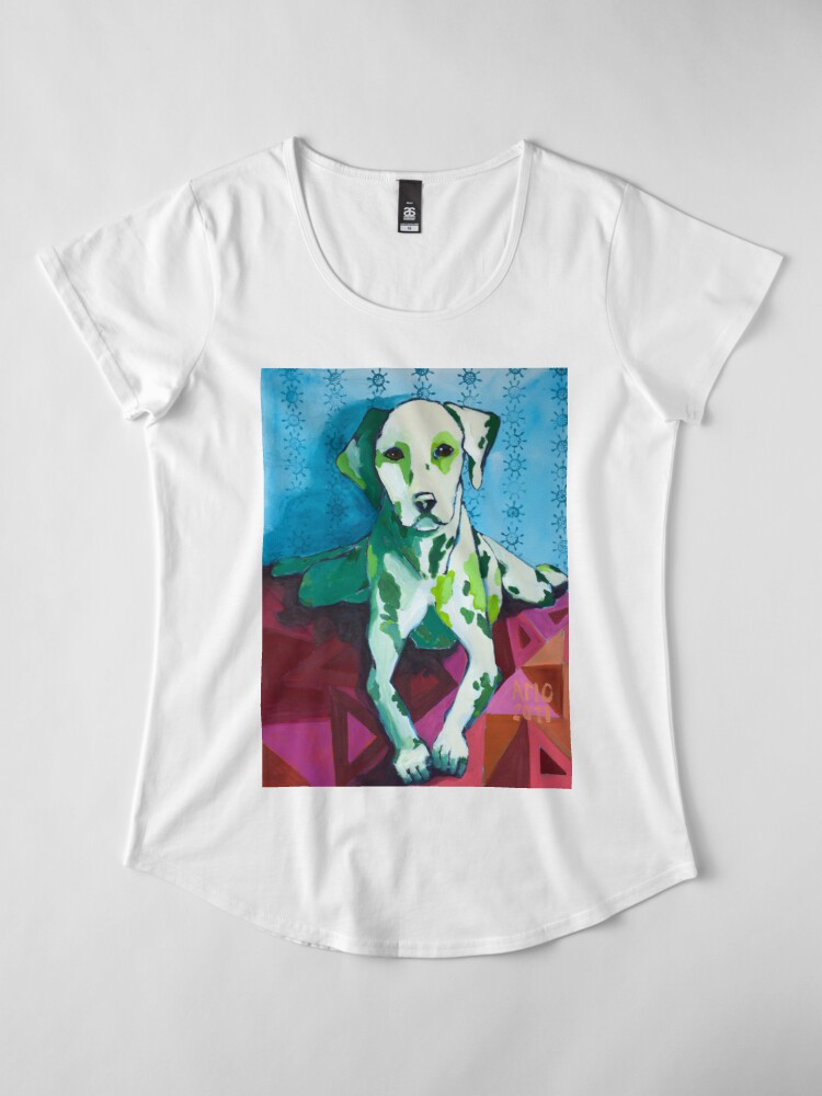 Alternate view of Dalmatian Premium Scoop T-Shirt