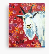 Liberty Goat Metal Print