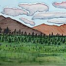 Mountain and Meadow Landscape by lisavonbiela