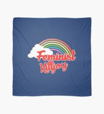 Feminist killjoy retro rainbow Scarf
