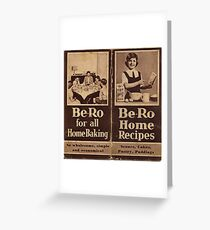 Be-Ro Home Recipes  Greeting Card