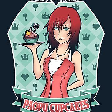 Kairi's Paopu Cupcakes / Kingdom Hearts by Ruwah