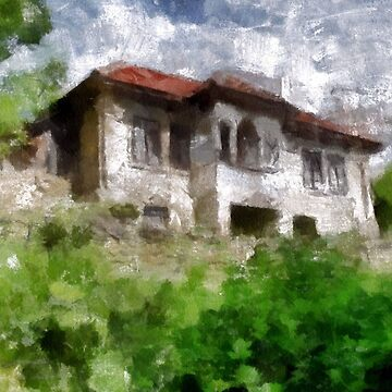 A digital painting of An Abandoned House in Barda, Romania by ZipaC