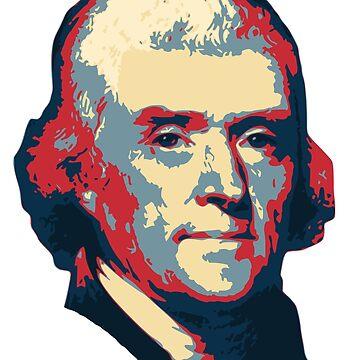 Thomas Jefferson Pop Art by idaspark