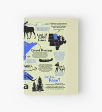 Minnesota National Parks Infographic Map  Hardcover Journal