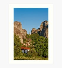 Kastraki village, Meteora Art Print