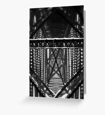 Support - Black and White Industrial Collection - Montana Greeting Card