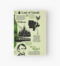 Illinois National Park Infographic Map  Hardcover Journal